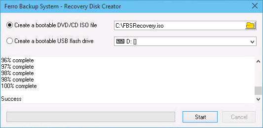 FBS Recovery Disk Creator
